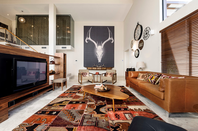 Tv Wall Mount Swivel Living Room Contemporary with Antler Art Area Rug