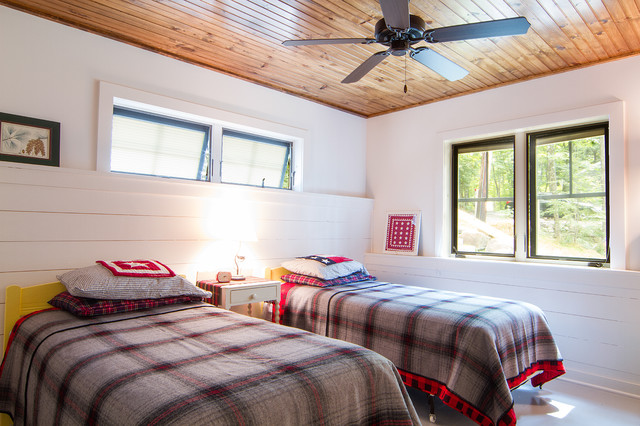 Twin Bedspreads Bedroom Rustic with Ceiling Fan Low Ceiling