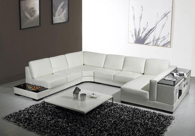 U Shaped Sectional Sofa Living Room Modern with Contemporary Leather Sectional Sofa