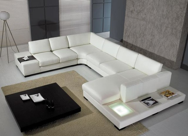 U Shaped Sectional Sofa Living Room Modern with Contemporary Leather Sectional Sofa1