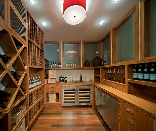 uline wine cooler Wine Cellar Contemporary with baskets Cubby Holes drawers