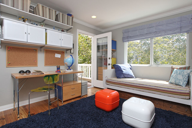 Underbed Drawers Kids Contemporary with Built in Bed Built in Window