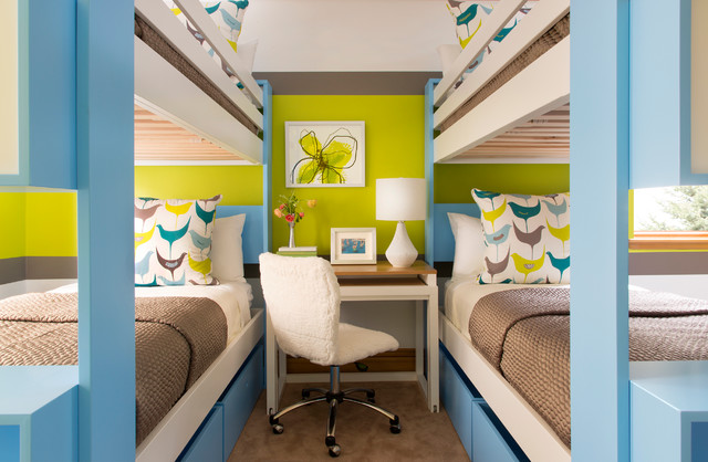 Underbed Storage Kids Contemporary with Blue and White Brown