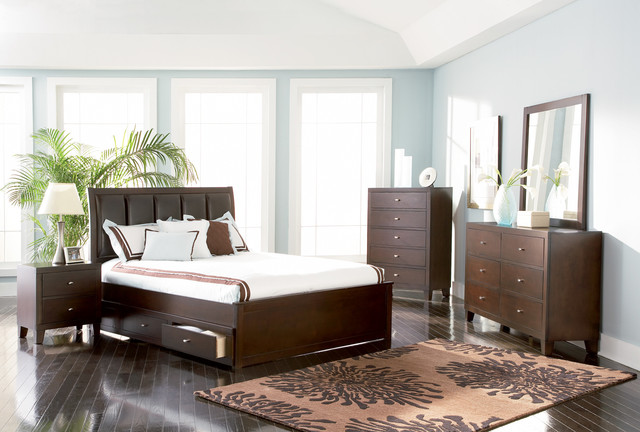 Underbed Storage Drawers Bedroom Contemporary with Bed Bedroom Set Brushed