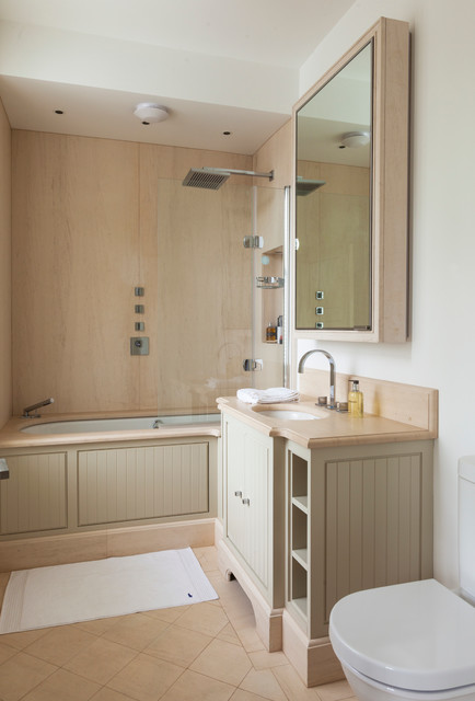 Undermount Bathroom Sinks Bathroom Traditional with Bath Panel Bath Shower