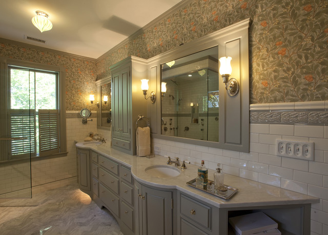 Undermount Bathroom Sinks Bathroom Traditional with Bathroom Sconces Border Tile