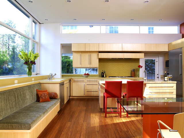 Undermount Kitchen Sink Kitchen Contemporary with Bamboo Bamboo Cabinets Bamboo