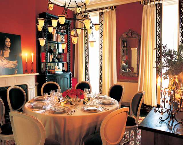 unscented candles Dining Room Traditional with chandelier dining room dining