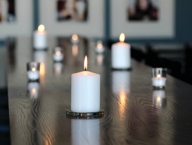 Unscented Candles Spaces Rustic with Ambiance Biolights Candlelight Centrepieces