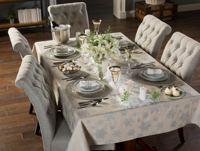 Unscented Candles Spaces with Dining Room Table Holiday