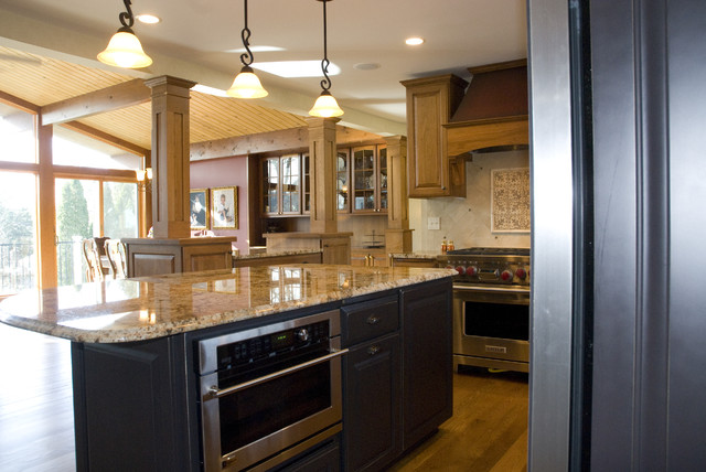 Uttermost Lighting Kitchen Traditional with Granite Countertops Great Room