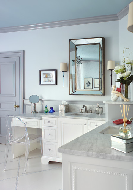 Uttermost Mirrors Bathroom Traditional with Beaded Cabinet Bevel Mirror