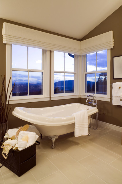 Valance Ideas Bathroom Contemporary with Angled Ceiling Basket Bath1
