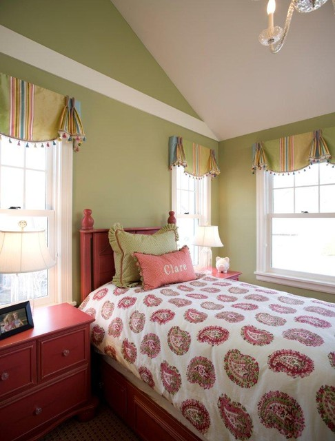 Valance Ideas Kids Traditional with Bed Pillows Bedroom Bedside1