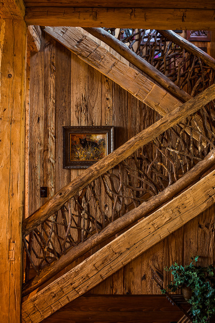 Valance Ideas Staircase Rustic with American Rustic Style Custom