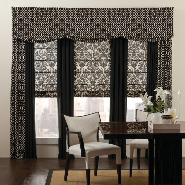 Valences Home Office Eclectic with Curtains Custom Drapery Custom