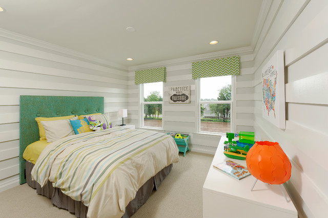 Van Metre Homes Kids Traditional with Green Cornice Boards Green
