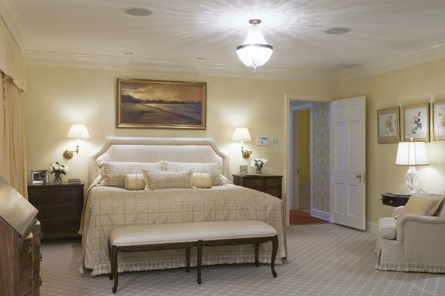 vaughan lighting Bedroom Traditional with bed pillows bedside table