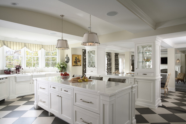 Vaughan Lighting Kitchen Traditional with Apron Sink Black And