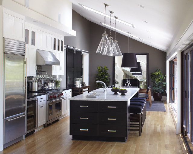 Ventahood Kitchen Transitional with Absolute Black Granite Black