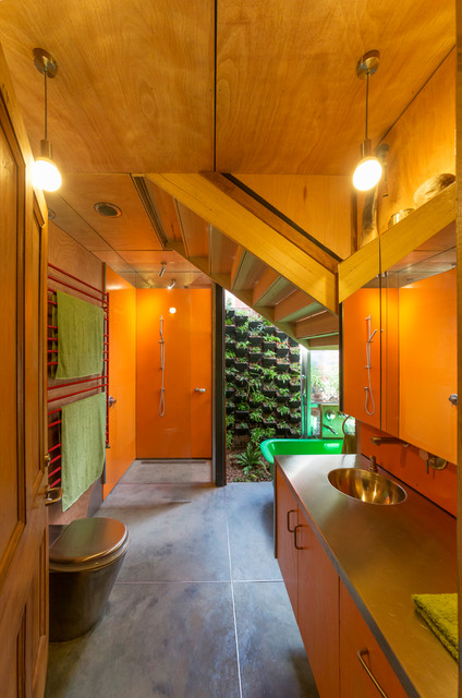 Vertical Bathtub Bathroom Industrial with Colorful Bathroom Eclectic Bathroom