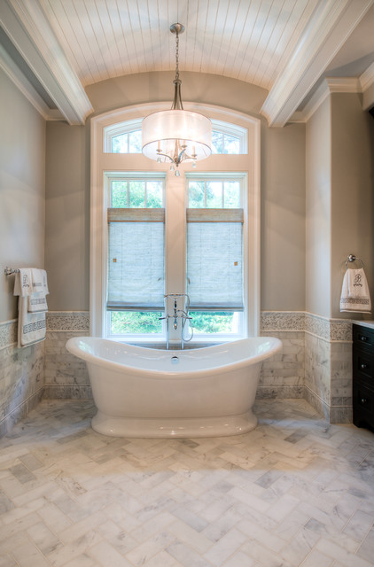 Victoria and Albert Tubs Bathroom Traditional with Barrel Vault Curved Ceiling