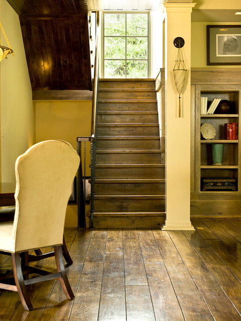 Vinyl Plank Flooring Reviews Staircase Traditional with Basement Bookcase Dark Floors1