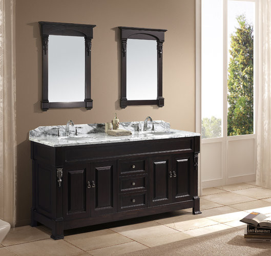 Virtu Usa Spaces Traditional with Antique Bathroom Vanities