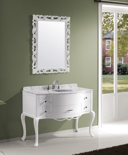 Virtu Usa Spaces Traditional with White Bathroom Vanities