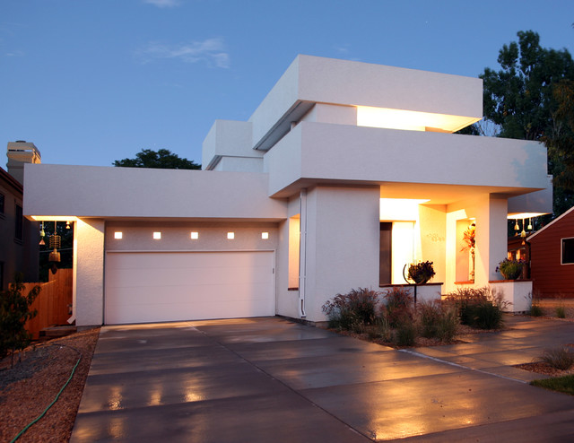 Wac Lighting Exterior Contemporary with Concrete Flat Roof Flat