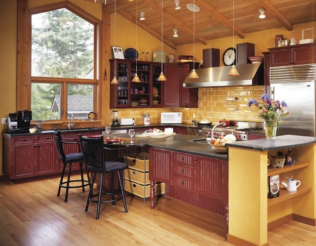 Wac Lighting Kitchen Transitional with Barstools Beadboard Glass Front