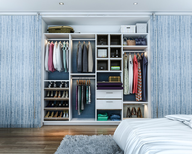 Walk in Closet Organizers Bedroom Contemporarywith Categorybedroomstylecontemporary