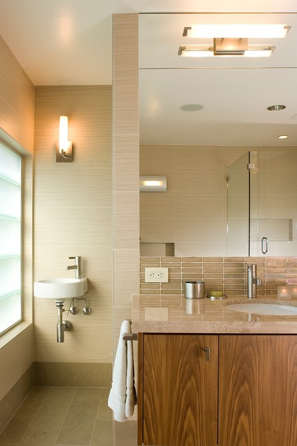 Walker Zanger Bathroom Contemporary with Ann Sacks Tile Bathroom