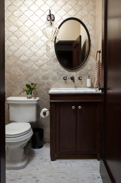 Walker Zanger Bathroom Mediterranean with Bathroom Lighting Bathroom Mirror