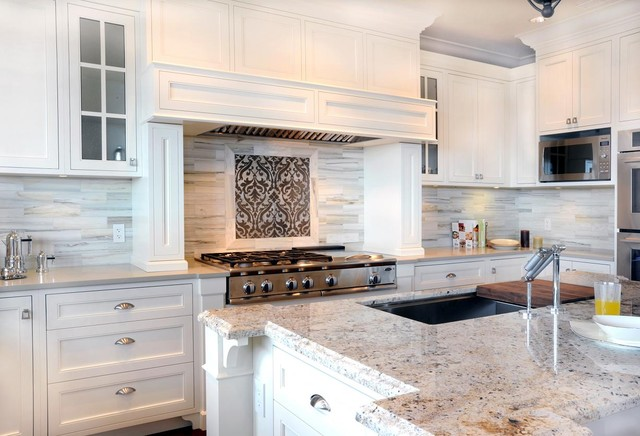 Walker Zanger Kitchen Transitional with Accent Tile Accent Tile