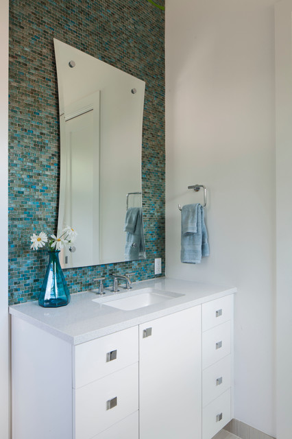 Walker Zanger Tile Bathroom Contemporary with Aqua Bathroom Bathroom Hardware