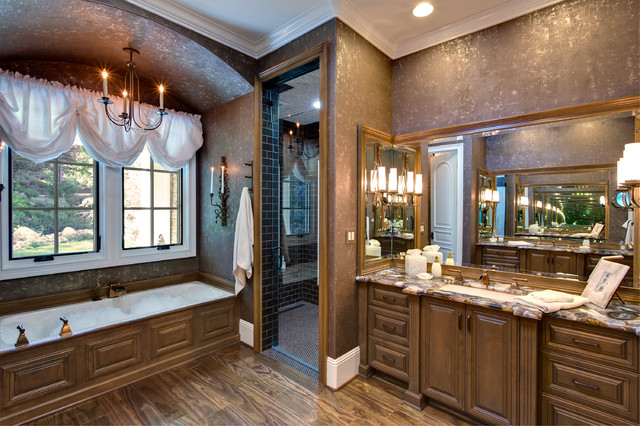 Wall Candle Sconces Bathroom Traditional with Bathroom Chandelier Brown Bathroom