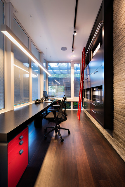 Wall File Organizer Home Office Contemporary with Black and Red Study