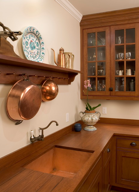 Wall Mounted Coat Rack Kitchen Traditional with Brass Butler Pantry Cherry