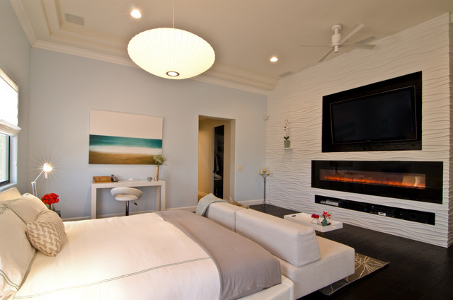 Wall Mounted Electric Fireplace Bedroom Transitional with 3 D Wall Covering 3d