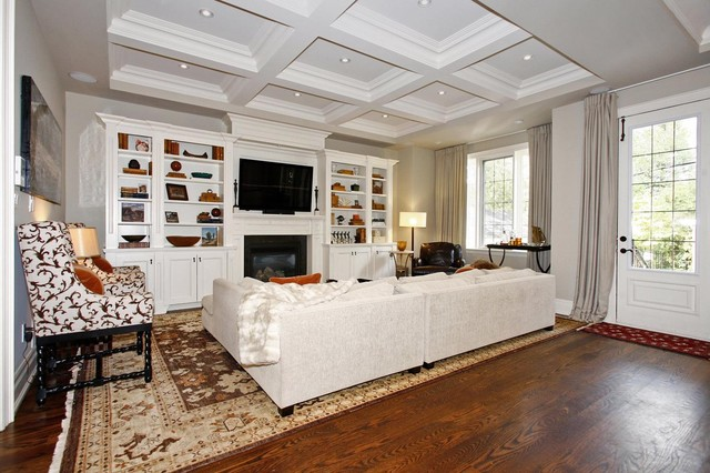 Wall Mounted Electric Fireplace Living Room Traditional with Area Rug Baseboards Built