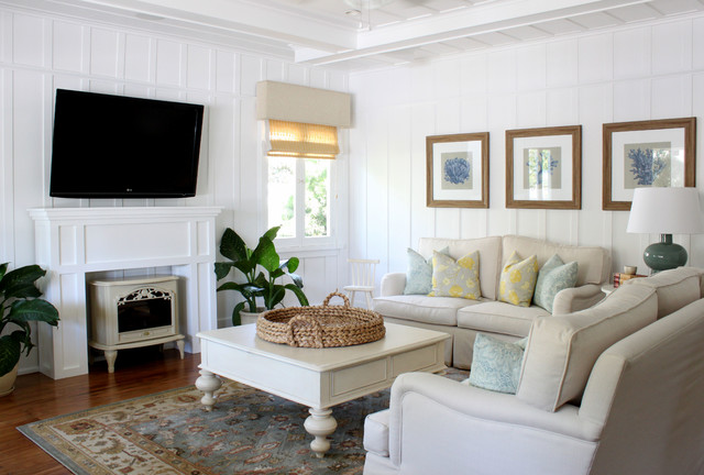 Wall Mounted Electric Fireplace Living Room Traditional with Beach Beach Theme Beige