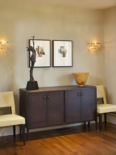 Wall Sconce with Switch Dining Room Contemporary with Credenza Leather Dining Chairs