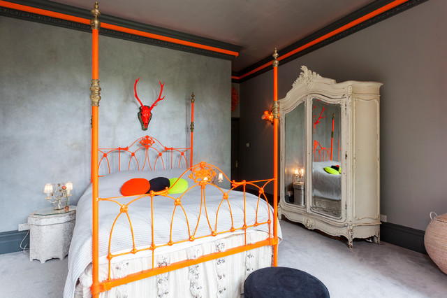 Wardrobe Armoire Bedroom Eclectic with Antlers Bed Frame Brave