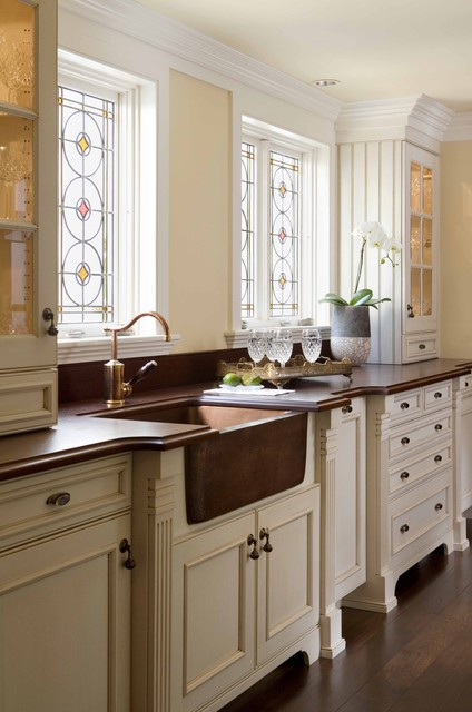 Warmly Yours Kitchen Traditional with Apron Front Sink Beadboard
