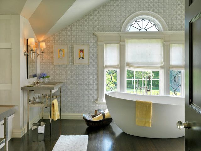 Wastebasket Bathroom Transitional with Addition Arch Architecture Art