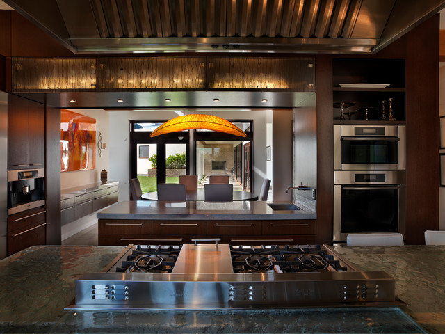 Waterstone Faucets Kitchen Contemporary with Backlit Cabinets Custom Hood