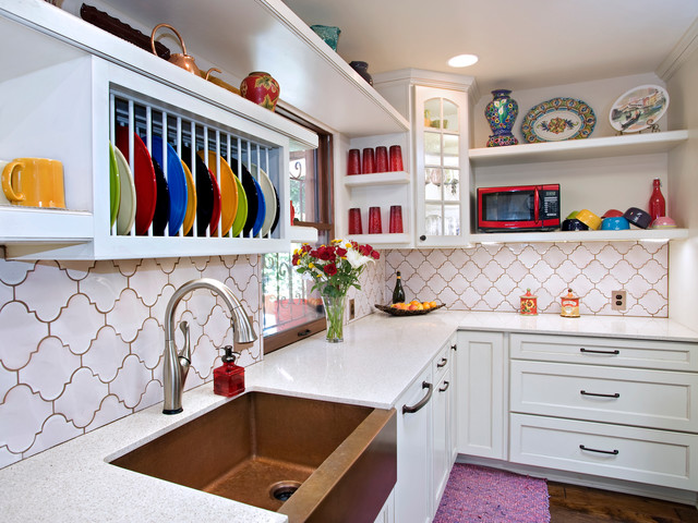 Waterstone Faucets Kitchen Eclectic with Arabesque Tile Austin Austin