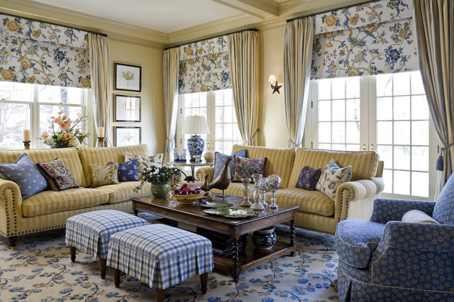 Waverly Valances Living Room Traditional with Area Rug Blue And