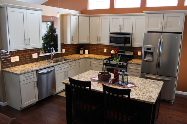 Waypoint Cabinets Kitchen Traditional with Cabinet S Top Countertop Granite Island